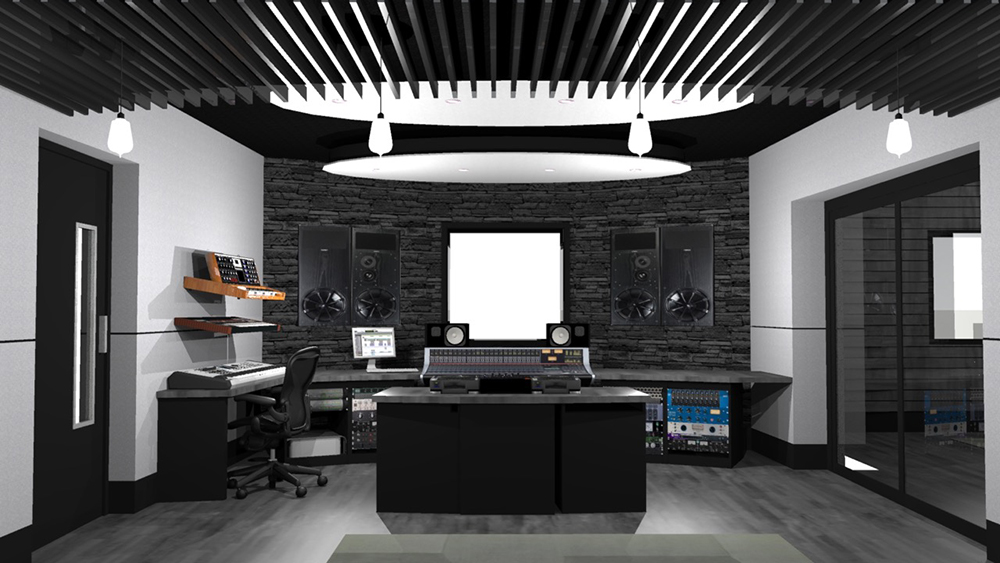 3D Recording Studio Visualisations by Studio Creations
